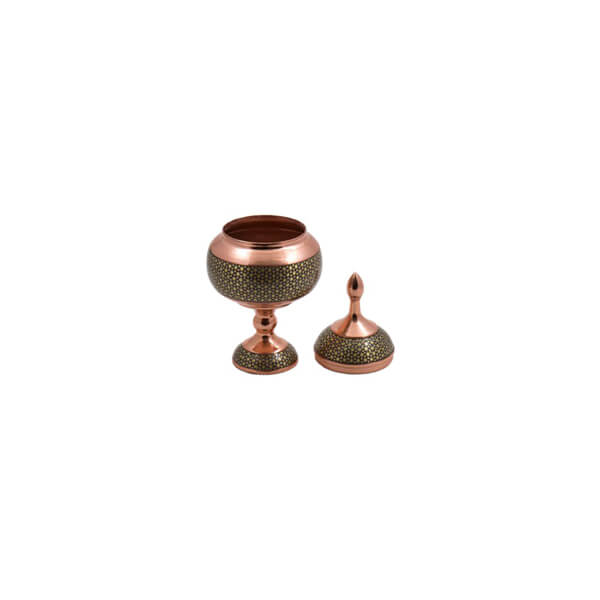 Khatam-Inlaid Copper Pedestal Bowl