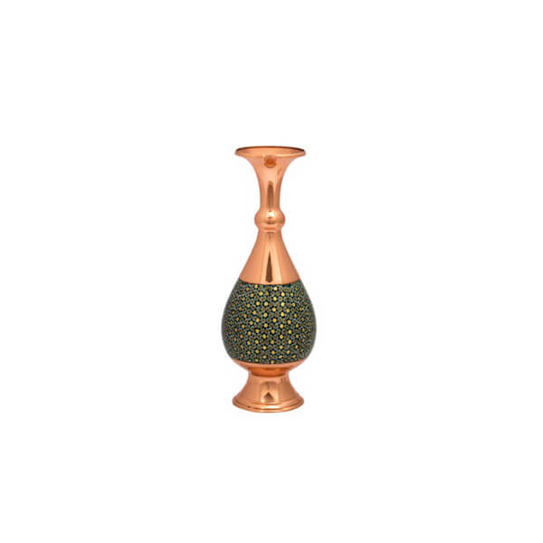 Khatam-Inlaid Copper Vase