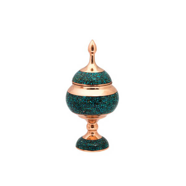 Turquoise Inlaying Pedestal Bowl