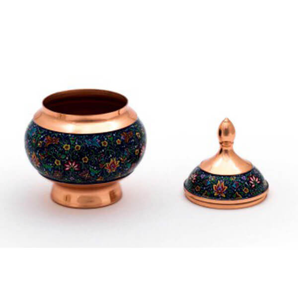Painted Copper Bowl